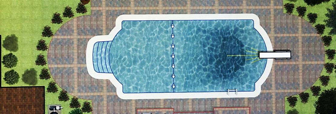 Inground Pools are digitally designed prior to beginning construction.
